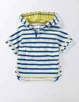 Stripy Towelling Throw-on Ivory/Skipper Stripe Baby Boden