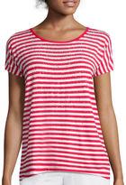 Liz Claiborne Striped Embellished Tee
