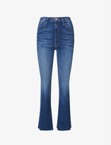 Thumbnail for your product : Mother The Hustler flared high-rise stretch-denim jeans