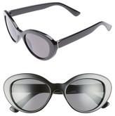 BP Women's 50Mm Vintage Cat Eye Sunglasses - Black