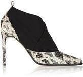 Reed Krakoff Anaconda and neoprene ankle boots