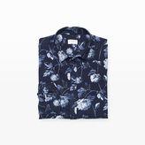 Club Monaco Slim Floral Flannel Shirt