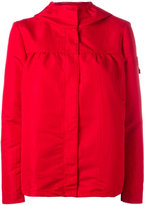 Moncler Gamme Rouge hooded rain jacket - women - Silk/Polyester - 1