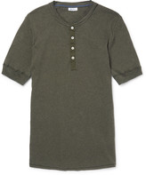 Schiesser - Karl Heinz Slim-fit Cotton-jersey Henley T-shirt