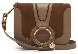 See by Chloe Hana Small Leather And Suede Cross-body Bag - Khaki