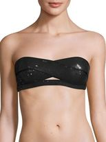 Herve Leger Loretta Allover Sequined Bandeau Bikini Top
