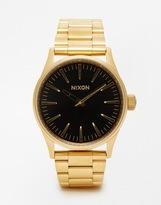 Nixon Sentry 38 Stainless Steel Strap Watch - Gold