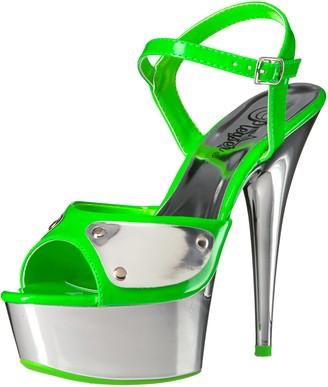 Pleaser USA Women's Del609nc/ngn/sch Platform Sandal