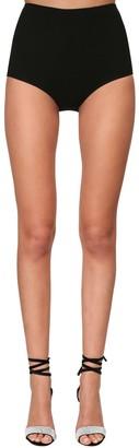 Alexandre Vauthier High Waist Stretch Jersey Panties