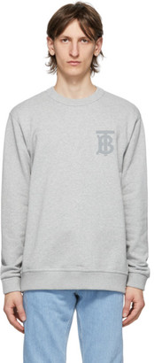 Burberry Grey Logo Dryden Sweatshirt