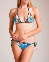 Roberto Cavalli Flowers Triangle Bikini