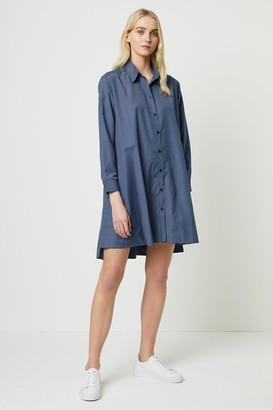 French Connection Mattia Check Drawstring Shirt Dress