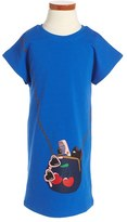 Little Marc Jacobs Girl's 'Fancy' Graphic Jersey Sweatshirt Dress