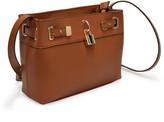 Adrienne Vittadini Women's Handbags COGNAC - Cognac Belted Front-Face Crossbody Bag