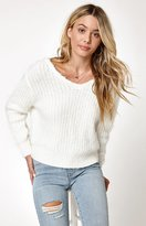La Hearts Cozy Cross Back Pullover Sweater