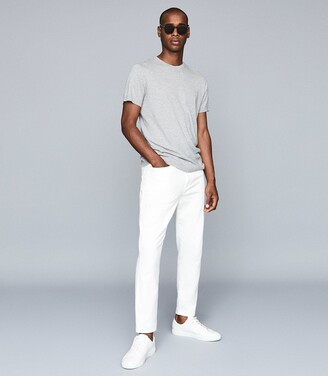Reiss Drummand - Brushed Cotton Five-pocket Trousers in White