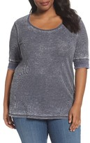 Sejour Plus Size Women's Thermal Knit Tee
