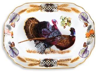 Mackenzie Childs Pheasant Run Turkey Platter