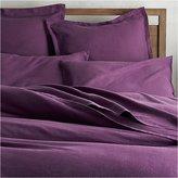 Crate & Barrel Lino II Purple Linen Duvet Covers