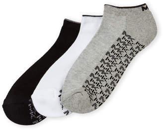 Michael Kors 3-Pack Logo Low-Cut Socks
