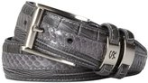 Stacy Adams Men's 32mm Genuine Leather Lizard Skin Print Belt With Buckle