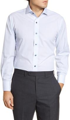 Lorenzo Uomo Trim Fit Non-Iron Geometric Dress Shirt