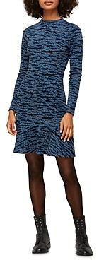 Whistles Animal Print Flounce Dress
