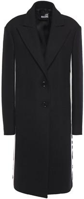 Love Moschino Monogram-trimmed Wool-blend Twill Coat