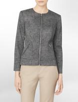 Calvin Klein Exposed Zip Detail Printed Blazer
