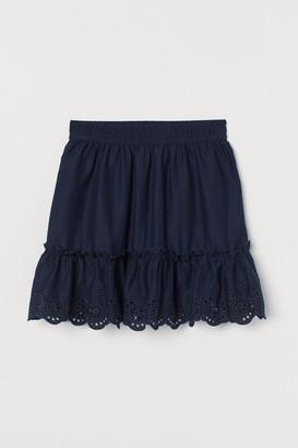 H&M Broderie-hem skirt