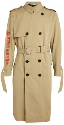 Valentino Slogan Trench Coat