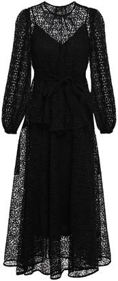 Zimmermann Ruffle-trimmed Guipure Lace Midi Dress