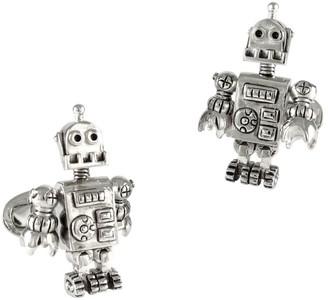 Jan Leslie Robot Moves Sterling Silver Cufflinks