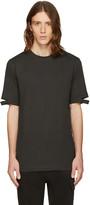 Helmut Lang Green Cut Hem T-shirt