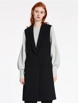 CK Calvin Klein Double Weave Stretch Sleeveless Long Vest