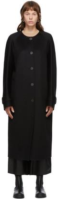 Loewe Black Wool and Cashmere Raglan Coat