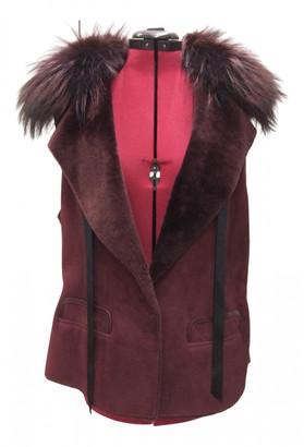 Loewe Burgundy Fox Coats