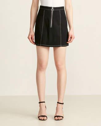 BB Dakota Black Zip To It Short Skirt