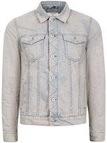 Topman Grey Acid Wash Denim Jacket