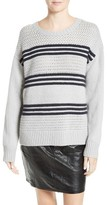 Frame Women's Stripe Basketweave Sweater