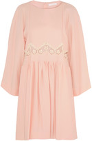 Chloé Lace-trimmed cady mini dress