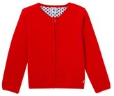Petit Bateau Girls quilted tube knit teddy jacket