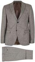 Stone Wool Blend Skinny Fit Suit