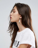 Asos Limited Edition Pearl And Open Heart Earrings