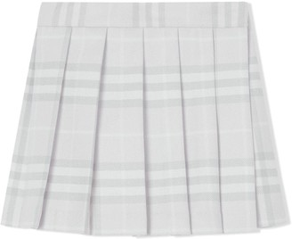 BURBERRY KIDS Vintage Check Pleated Skirt
