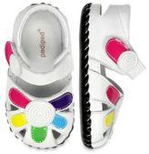 pediped pedipedTM Originals Size 0-6M Daisy Sandal in White