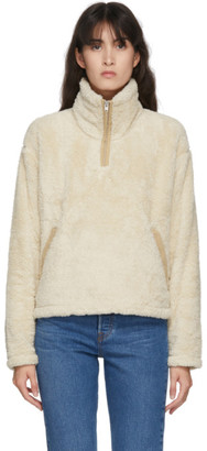 The North Face Beige Furry Fleece Zip-Up Pullover