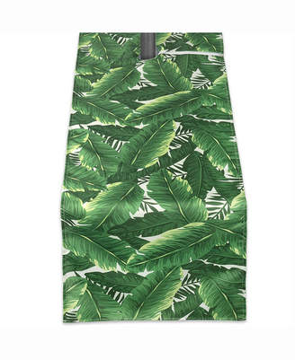 """Banana Leaf Outdoor Table Runner with Zipper 14"""" X 108"""""""