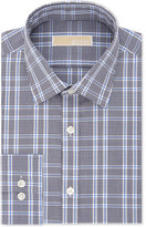 MICHAEL Michael Kors Men's Classic/Regular Fit Blue Check Dress Shirt