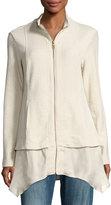 XCVI Rosalie Stretch Long Georgette Jacket,
